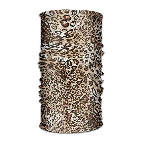 Ejdkdo Cool Leopard Print 16-in-1 Magic Scarf,Face Mask,Fishing Mask,Thin Ski Mask,Neck Warmer Balaclava Bandana for Raves,Dust,Riding Bike,Motorcycle,Outdoor Activities Design5