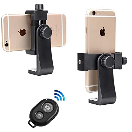 Phone Tripod Mount with Remote 360 Rotation Smartphone Holder Adapter Compatible with iPhone 11 Pro Xs Max XR X 8 7 6 6s Plus Samsung Nexus