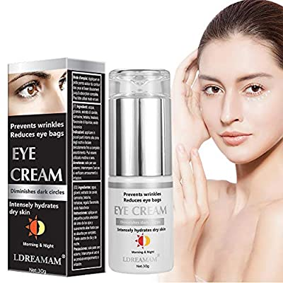 Eye Cream,Eye Gel,Anti-Aging Eye Cream - Minimizes Fine Lines, Reduces Puffiness & Dark Circles, Anti Aging Skin Nourishes Skin & Fights Wrinkles Night and Day Moisturizing Cream by Ldreamam
