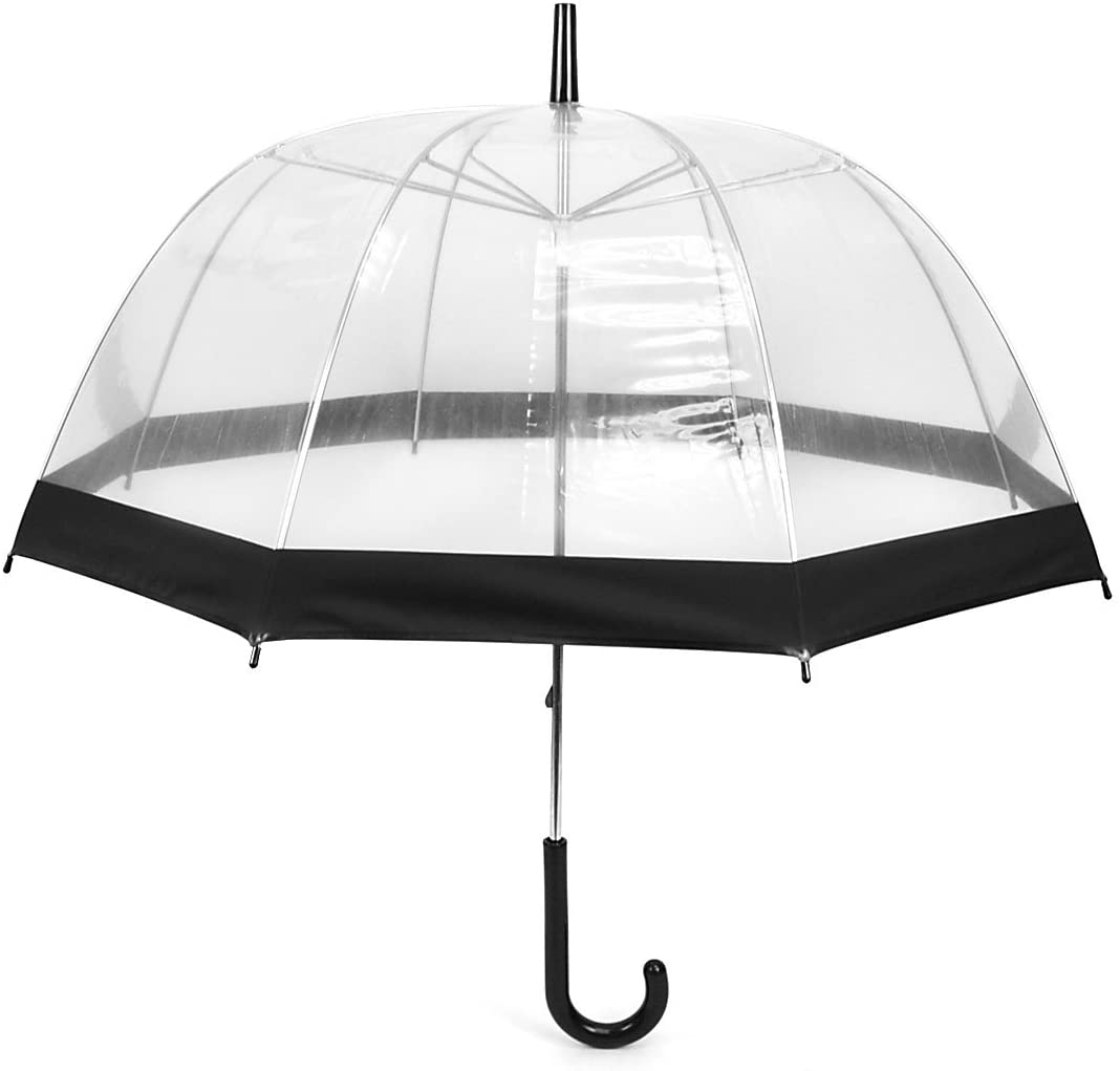Clear Black Bubble Fees free Umbrella with Dome Max 90% OFF Um - Windproof Transparent