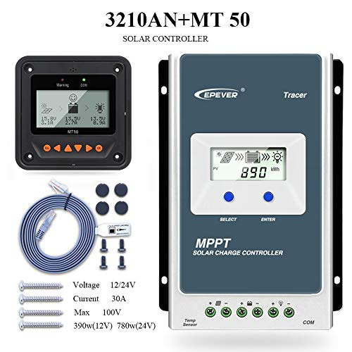 MPPT 10A funzionamento automatico 100 V per batterie al litio sigillate AGM EPEVER MPPT regolatore di carica 12 V//24 V pannello solare con display LCD Tracer 1210AN