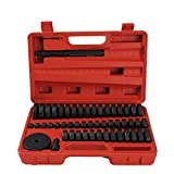 CCLIFE 52 piezas herramientas de presión discos de montaje pieza de presión y extractor para retenes de sellado, cojinetes, semicojinetes, bujes y gomas