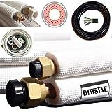 2x 4m 1/4'+3/8' Zoll Kupferleitungen Kältemittelleitungen für 9000/12000 BTU Komplett-Montage-Kit inkl. Kabel (2x4m für 9000/12000 btu)