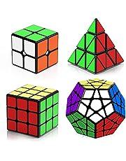 Roxenda 2x2x2 3x3x3 Megaminx Pyramid Speed Cube Set - 4 Stuks