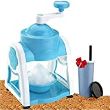 DELWOR Ice Crusher Manual Multifunction Portable Ice Slush Maker Home Snow Cone Smoothie