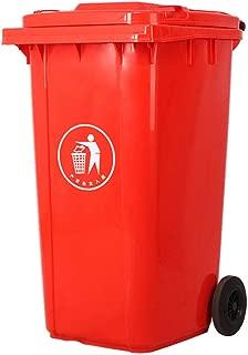 JYOKK 120L Papeleras ruot Infantiles Apertura Cubos Basura Sanitario Grande Parque Exterior Escénico Tubo para Interiores y Exteriores Negrita polea Cubrir Gris Azul Verde Rojo
