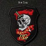 Bayonet Skull Embroidery...image