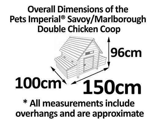 Pets Imperial® - Hühnerstall Savoy - für 6 bis 8 Hühner Je nach Größe - sehr leicht zu reinigen A - 4