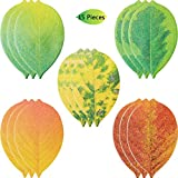15 Packs Tree Leaf Sticky Notes Leaf Self-Adhesive Notes Tree Leaf Paper Sticky Pads, 3.9 x 2.4 Inches, 25 Sheets and 5 Styles