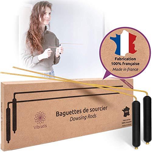 Vibratis Baguettes de Sourcier en Laiton Fabriquées en France - Baguettes de Radiesthésie