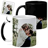 Design Your Own Color Changing Magic Mug With Any Wedding Picture or Anniversary Pictures, 11 Ounce Magic Mugs Taza Magica Personalizada