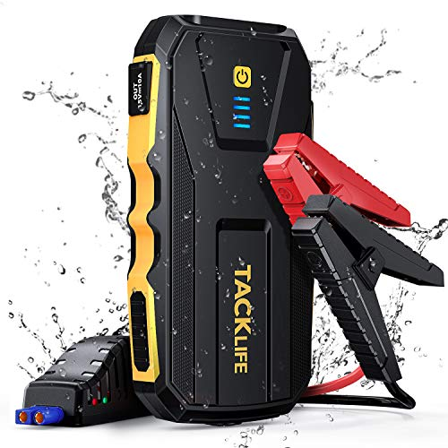 TACKLIFE 1500A Arrancador de Coches para 8.0L Gasolina and 6.0L Diesel, Arrancador de Baterias de Coche con IP65, Carga Rápida 3.0 y Luz LED