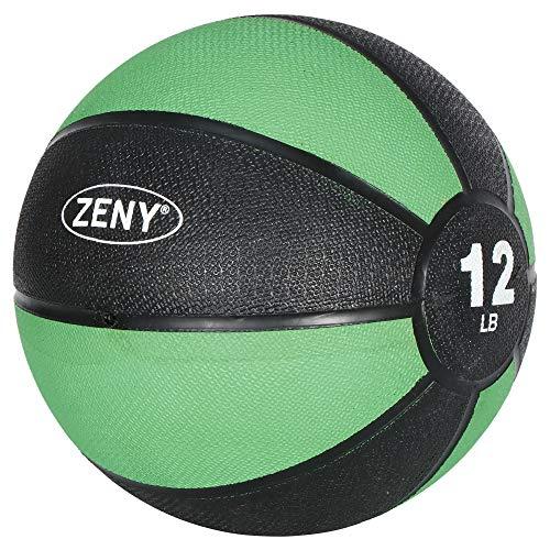 ZENY メディシンボール トレーニングボール エクササイズ 体幹トレーニング 筋トレ バランス向上 腹筋強化 自宅トレーニング ジム 5.4kg
