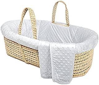Tadpoles Minky Dot Moses Basket & Bedding Set, Grey