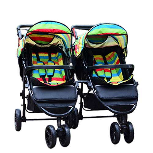 poi Twin Baby Strollers Detachable Twin Triplets Multiple Folding Twin Strollers (Color : F, Size : 10065cm)