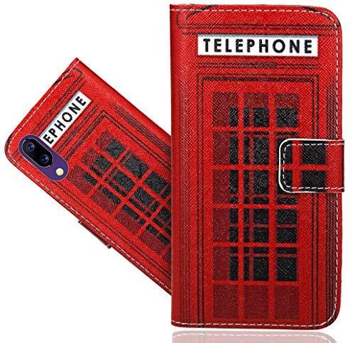 HülleExpert UMIDIGI One/One Pro Handy Tasche, Wallet Hülle Flip Cover Hüllen Etui Hülle Ledertasche Lederhülle Schutzhülle Für UMIDIGI One/One Pro