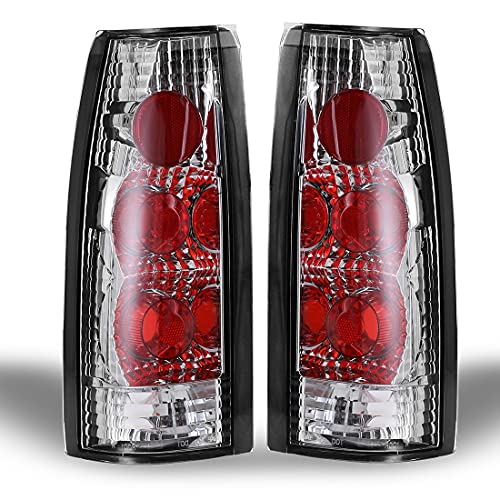 Tail Light Assembly for 1988-1999 Chevy C/K 1500 / 2500 / 3500, 1992-1999 Chevy Suburban 1500 / 2500, 1992-1994 Chevy Blazer, 1995-2000 Chevy Tahoe, 1999-2000 Cadillac Escalade Clear Lens