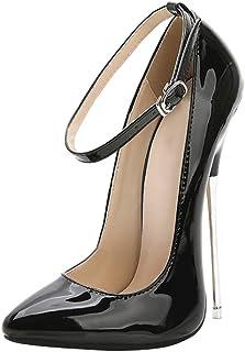 Yudesun Chaussures Femmes Escarpins Aiguilles - Talons Pointus 16cm Fête Élégantes Sexy Sandales pour Femmes Chaussures de...