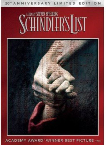 SCHINDLER'S LIST 20TH AED DVD