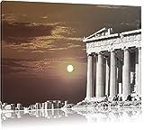 schöner Tempel der Athene schwarz/weiß Format: 120x80 auf