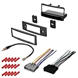 CACHÉ KIT358 Bundle with Car Stereo Installation Kit for 2000 – 2004 Ford Focus – in Dash Mounting Kit, Antenna, Wire Harness for Single Din Radio Receiver (4 Item)