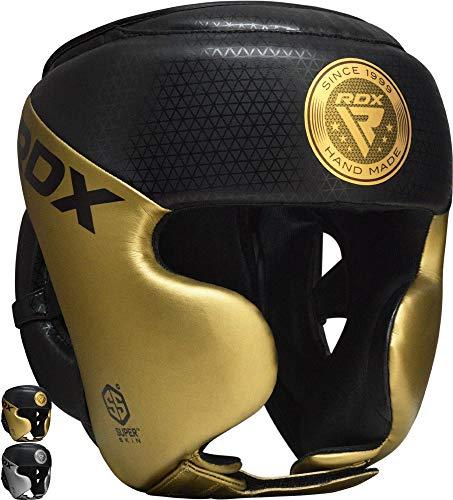RDX Kopfschutz Boxen für Kickboxen, Kampfsport, MMA Training, Maya Hide Leder Mark PRO Sparring Thaiboxen Kopfschützer, Boxhelm Krav MAGA Muay Thai, Karate und Taekwondo Headgear (MEHRWEG)