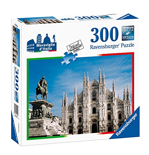 Ravensburger Italy- Piazza del Duomo, Milano Puzzle, 300 Pezzi, Multicolore, 14015