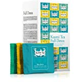 Kusmi Tea - Full Detox Gift Box - Assorted Tea Box of Wellness Teas Including BB Detox, Blue Detox, & Detox Tea Blends - 24 Muslin Tea Bags of All Natural, Premium Green Detox Teas (24 Servings)