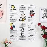 2021 スヌーピー カレンダー 壁掛け peanuts 最新カレンダー カッコイイ かわいい 人格カレンダー スケジュール snoopy 萌えグッズ 新年プレゼント AMZ-2021-JP (L 50×70cm,B)