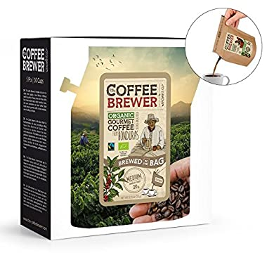 Grower's Cup Coffee Gift Box Assortment, 5 Pcs Coffeebrewers to Brew in a Bag - Great Camping Coffee