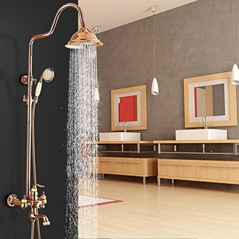 Home Badezimmer Dusche Europischen Antike Goldene Dusche Sprinkler Anzug Kupfer Krper Nicht Bestickt Stahl Hand Dusche Thermostat