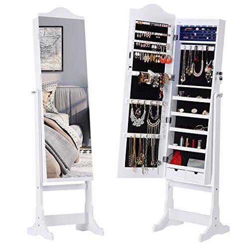 Armoire à Bijoux avec Miroir