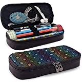 Pfotenabdruck Muster Leder Federmäppchen Tasche mit Reißverschluss niedlichen Stift Federmäppchen Box
