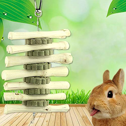 EGFheal Wooden Rabbit Molar Bamboo Bite Molar Snacks Molar Stick For Chinchilla Guinea Pig Pet Supplies show