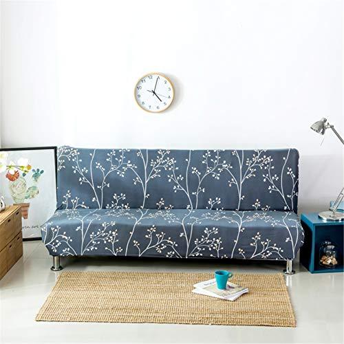 YCDZ Funda para sofá cama sin brazos, de poliéster y elastano, elástica, protector de 3 plazas, para sofá cama plegable, sin reposabrazos (#23)