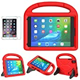 iPad Mini 1/2/3/4/5 Case for Kids, SUPLIK Durable Shockproof Protective Handle Bumper Stand Cover with Screen Protector for Apple 7.9 inch iPad Mini 5th (2019),4th,3rd,2nd,1st Generation, Red