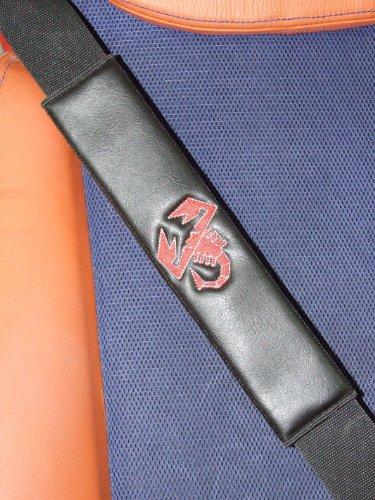 ONEKOOL Cuir Noir (similicuir) pour ceinture de sécurité Coussinets d'épaule F
