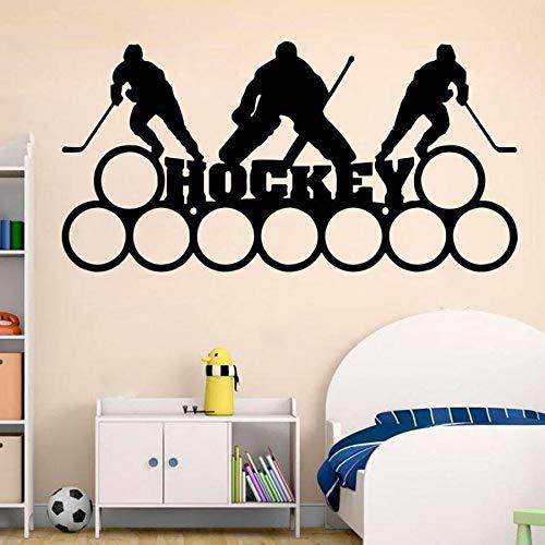 yaonuli Hockey muurtattoo gepersonaliseerde aangepaste naam sport kinderkamer decoratie vinyl sticker