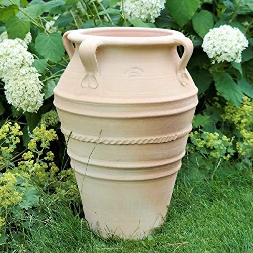 Céramique crète | amphore à la main avec poignée 60 cm | antigel | Amphore végétale pour la décoration extérieure, Datura
