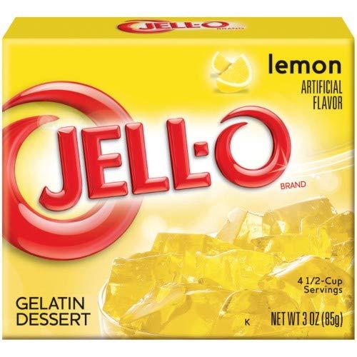 Lemon Jell-o Gelatin