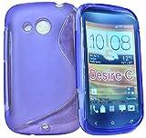 Accessory Master–Funda de Gel Silicona para HTC Desire C Morado