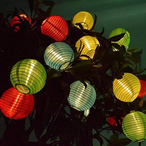 Solar LED Lanterns String Lights, ibdone 16.4Ft 5M 20 LED Waterproof Outdoor Decorative Stringed LED String Lights Lanterns for Party,Christmas,Garden,Patio,Halloween, Decoration (Multi Color)