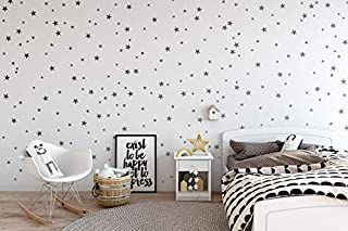 Wall Decals for Kids Room 155Pcs Silver Mix Star...