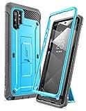 SupHülle Handyhülle für Samsung Galaxy Note 10+ Plus Hülle Outdoor Hülle Bumper Schutzhülle Robust Cover [Unicorn Beetle Pro] OHNE Bildschirmschutz mit Gürtelclip & Ständer 6.8 Zoll 2019 Ausgabe (Blau)