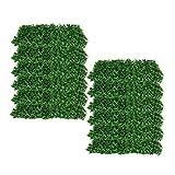 NiceDD 12 paquetes de 10 'x10' Estera de seto artificial de boj Estera de seto de boj Pantalla de cerca de privacidad UV Panel de vegetación Decoración al aire libre