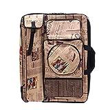 Caballetes de Dibujo Bolsa de Pintura Bolsa de Caballete Mochila Impermeable 4K Bolsa de Pintura Suministros de Arte Marrón 66 * 50cm Profesional Maletín