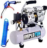 480W Silent Flüsterkompressor Druckluftkompressor 48dB leise ölfrei Kompressor inkl. Ausblaspistole und...