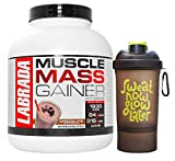 Labrada Muscle Mass Gainer (Gain Weight, Post-Workout, 84g Protein, 315g Carbs, Gluten Free,17g BCAA, 20 Vitamins & Minerals, 8 Servings) - 6 lbs (2.72 kg) (Chocolate) With Free!!! shaker