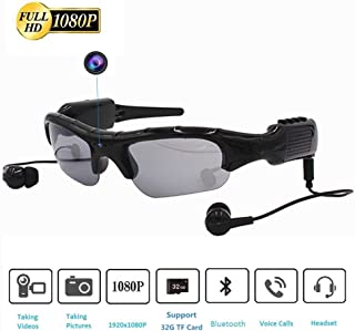 Wireless Sunglasses Camera, Camera Glasses Full HD 1080P Wearable Mini Video Camera for Outdoor Sports Driving,Riding,Fishing,Motorcycle(339)