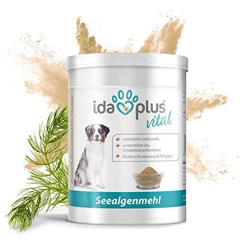 Ida Plus - Seealgenmehl 500g - für Hunde, Katzen und Pferde - 100% Naturprodukt aus Seealge - hoher Gehalt an Mineralien - natürliche Jodquelle – für glänzendes und pigmentiertes Fell - Barf geeignet
